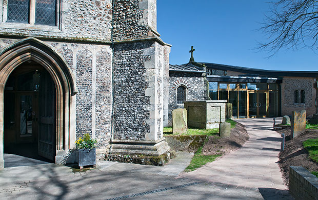 St Andrews Church entrance, Holt, Norfolk